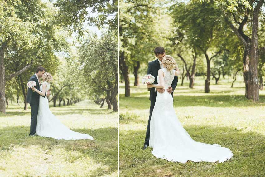 Поцелуй на фотосессии