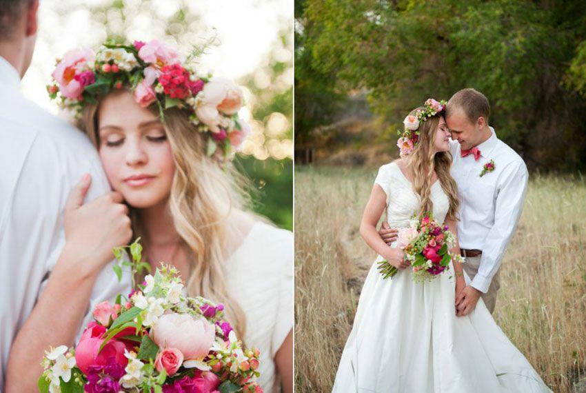 Венок в образе невесты