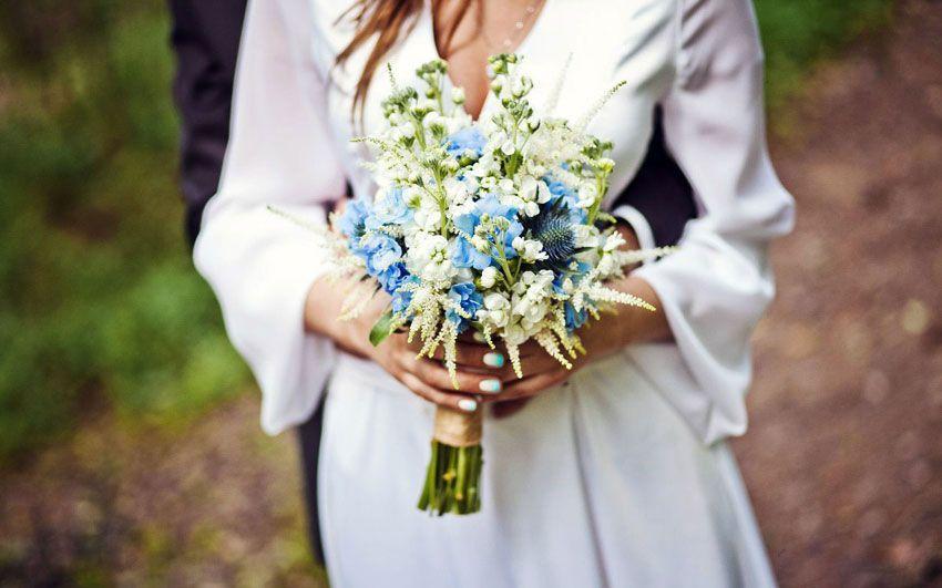 Букет невесты поле
