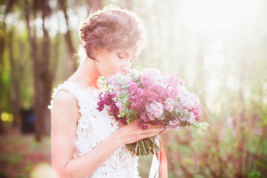 Букет невесты сирень