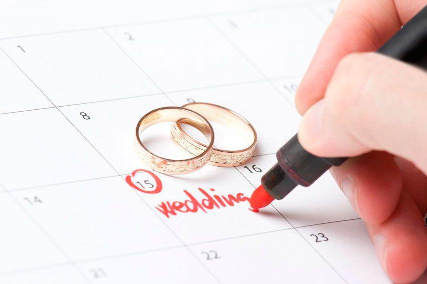 Дата свадьбы экономия