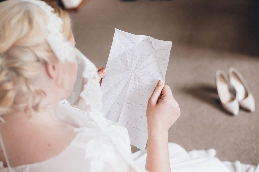 Письмо в день свадьбы