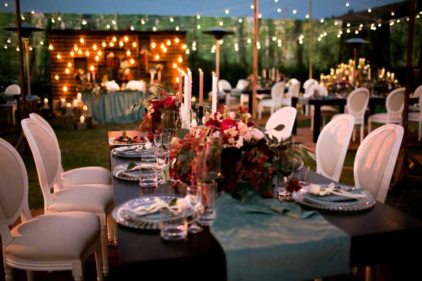 Свадьба вечером
