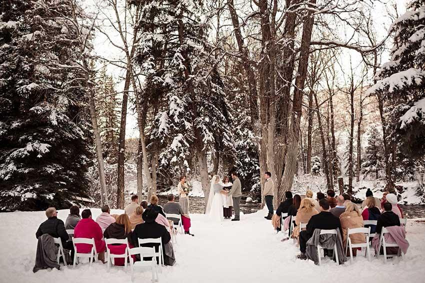 Свадебная церемония зимой