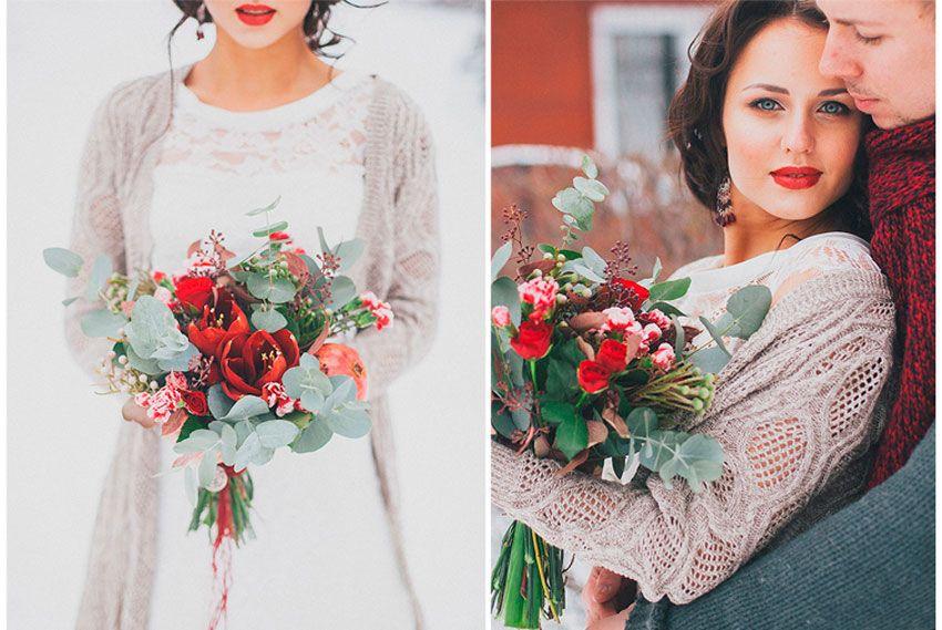 Зимние жених и невеста