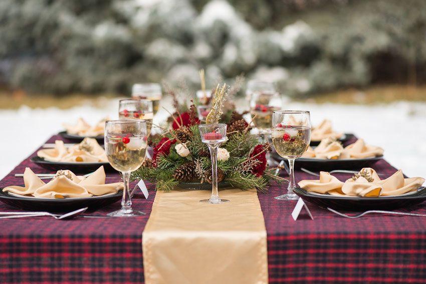 Зимняя свадьбы декор