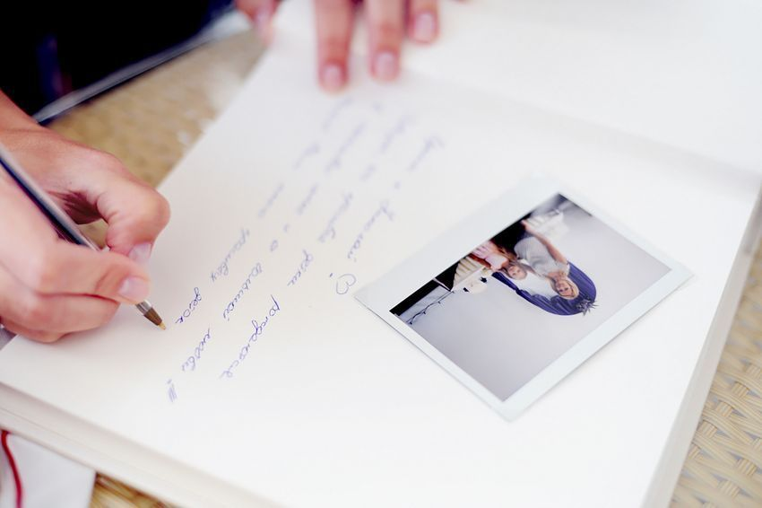 Книга пожеланий полароид