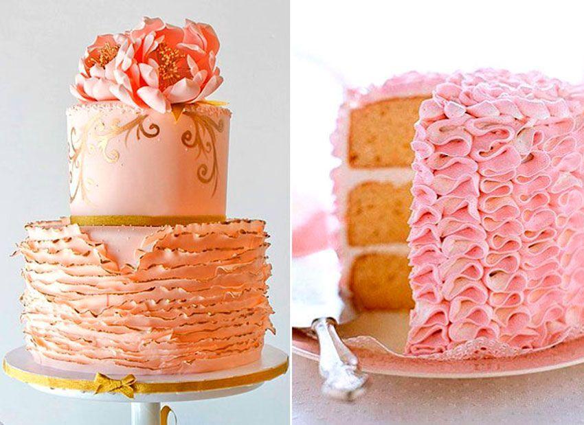 Свадебные торты с гофре 2017